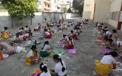 Rangoli Competition & Lantern Making Competition on 1st November 2018